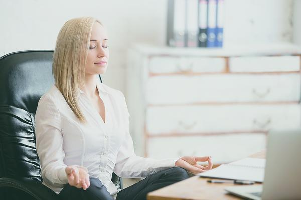 Social Distance Corporate Desktop Yoga and Meditation